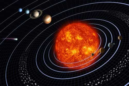 Sun alongwith its planets
