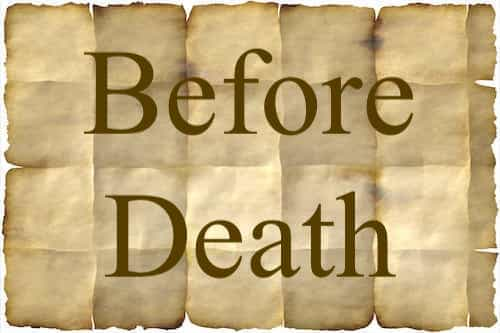 The topic Before Death mentioned in Bible | The Last Dialogue