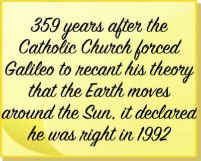 Catholic Church & Galilio