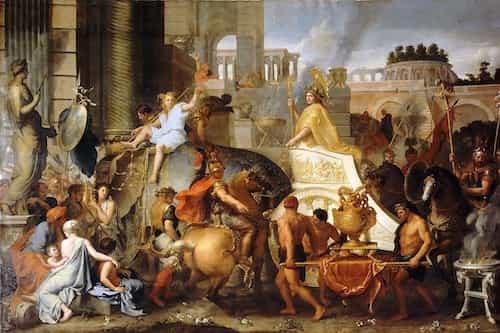 Alexander Entering Tyre City