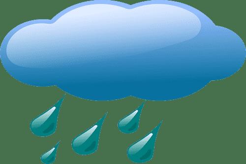 Clouds bearing Rain