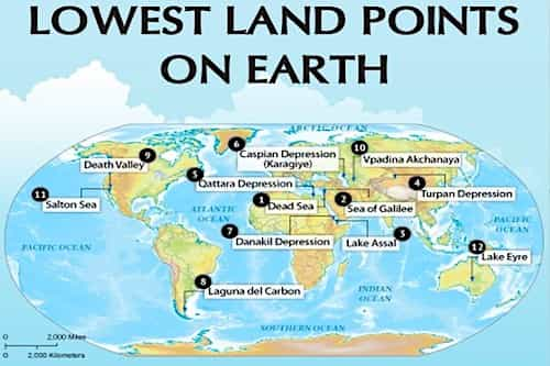 Lowest Lands On Earth