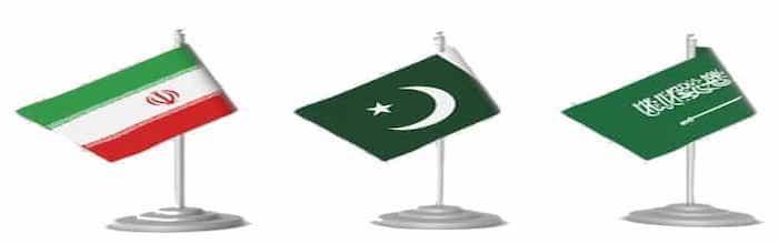 Flags of Pakistan Iran KSA