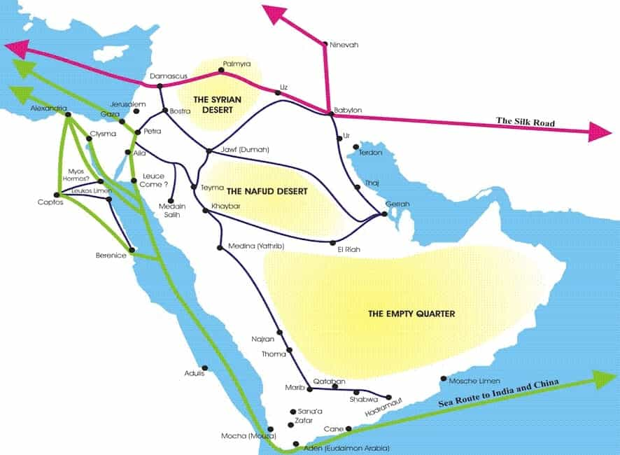 Arabian Peninsula Old Trade Routes