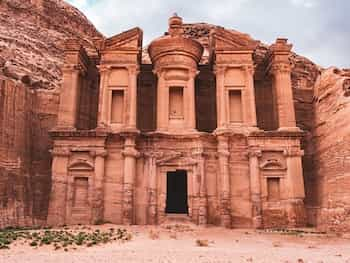 Ruins Of A Building In Old Petra City
